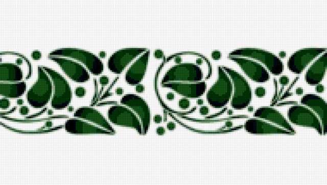 Узор из листьев, предпросмотр
