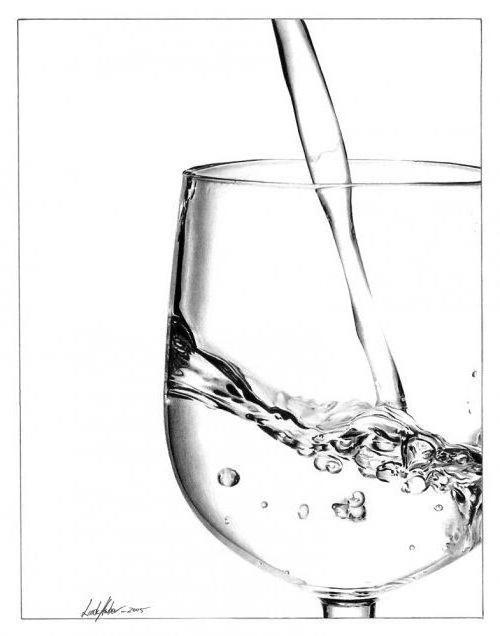 Бокал, вода, бокал