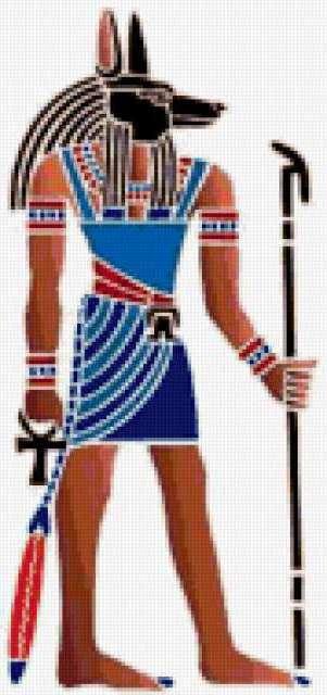 Схема вышивки «Бог Анубис»