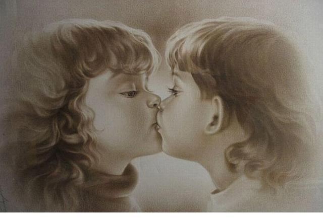 Первый поцелуй, дети, ребенок