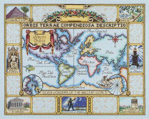 Античная карта мира, история,