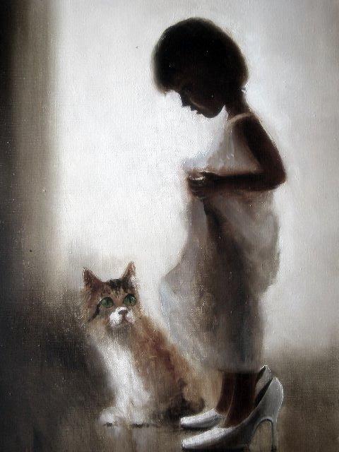 Девочка с котом, оригинал