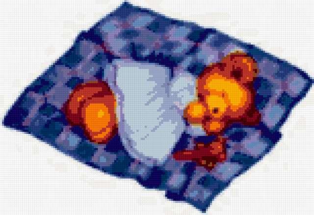 Сонный Мишка лёг в кровать....