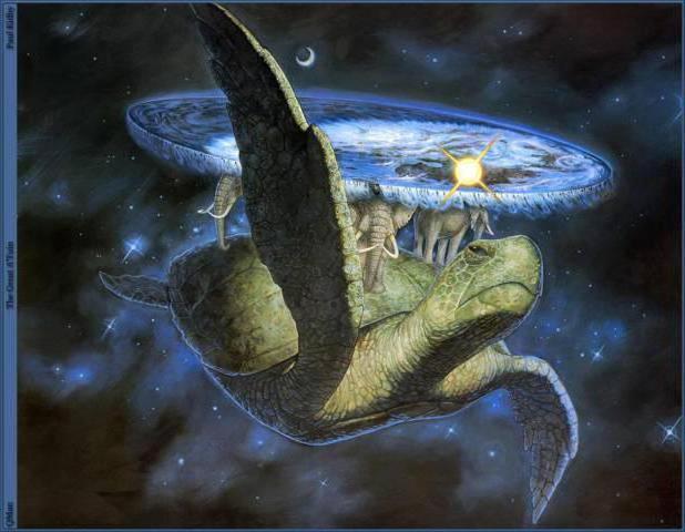 Черепаха несёт Землю, космос,