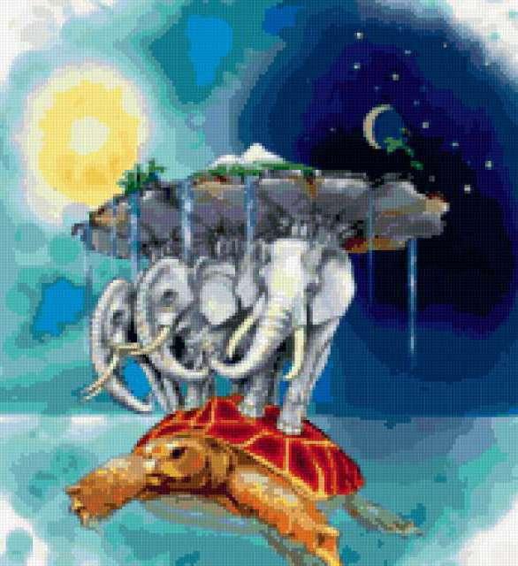 Мир на черепахе и слонах,