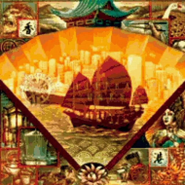 Китай, города, корабль, китай,
