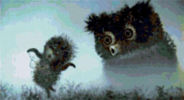 Ёжик в тумане и сова,