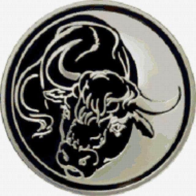 Год быка, телец, монета,