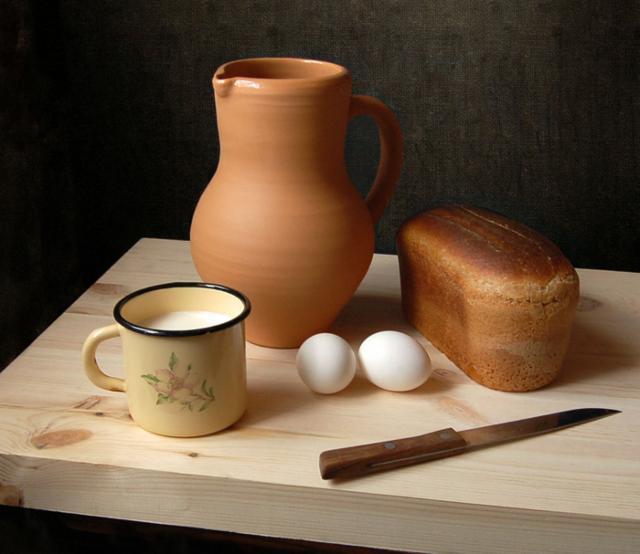 натюрморт, хлеб, деревня