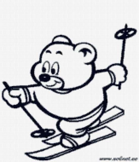 Мишка-спортсмен, предпросмотр