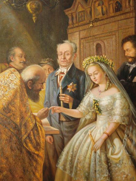 Неравный брак, картина
