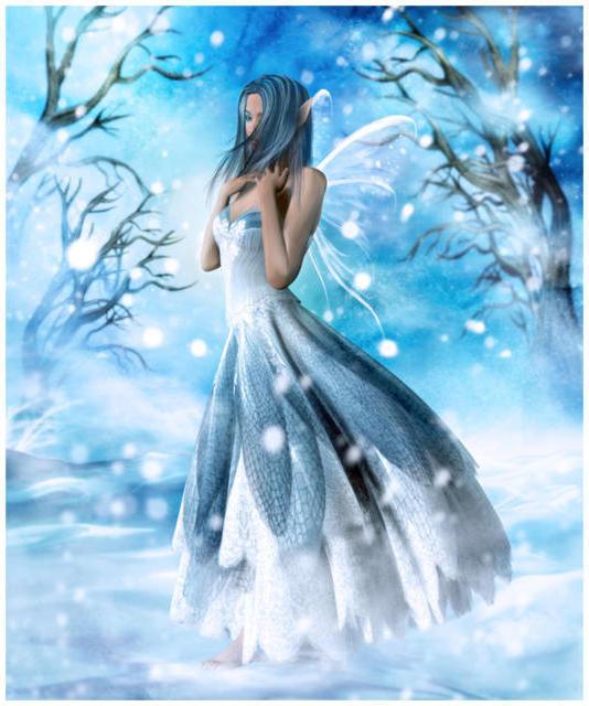 Девушка-зима, девушка
