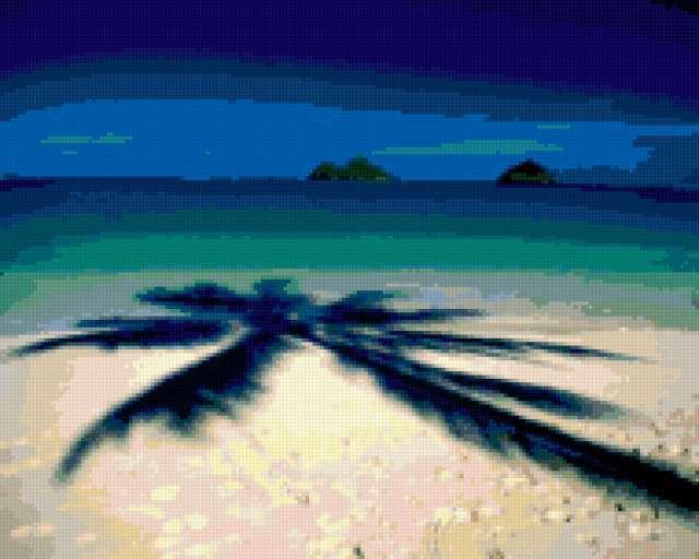 Тень пальмы, предпросмотр