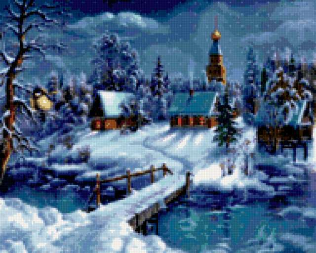 Зима в деревне, зима, снег,