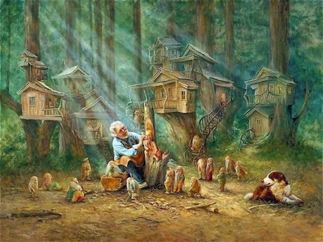 Лес гномов, оригинал