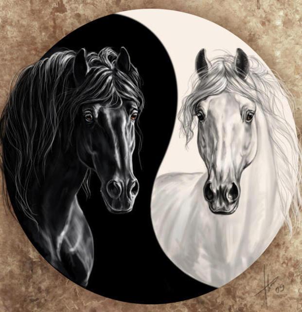 Лошади Инь-Янь, восток