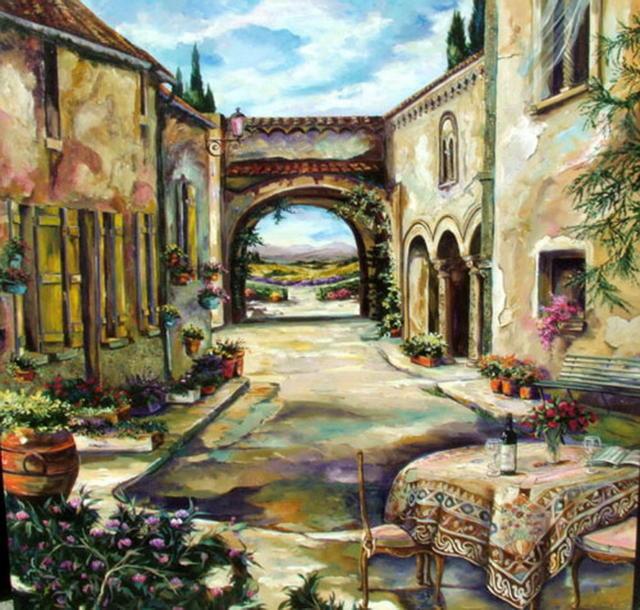 дворик, дворик, италия