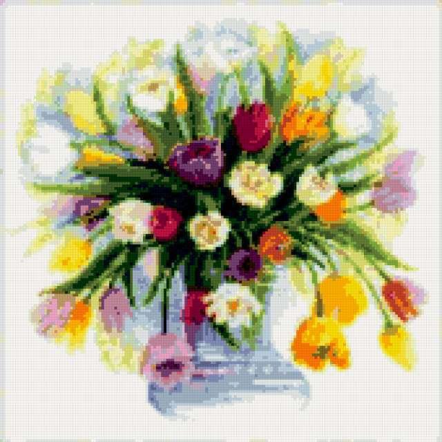 Тюльпаны (акварель)