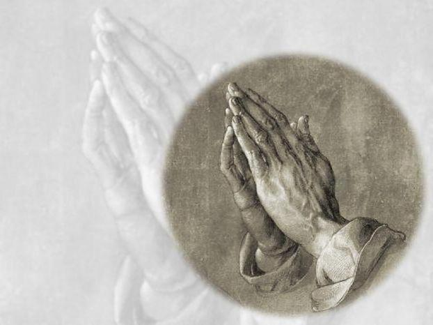 Молящиеся руки, оригинал