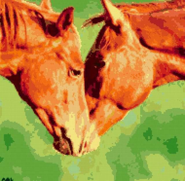 Пара лошадей, предпросмотр