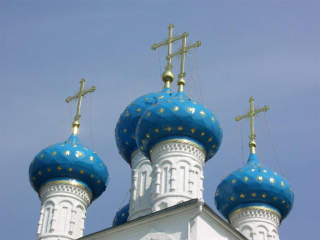 Купола никольской церкви