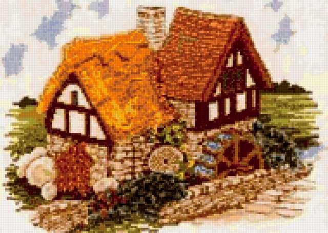 Домик-водяная мельница