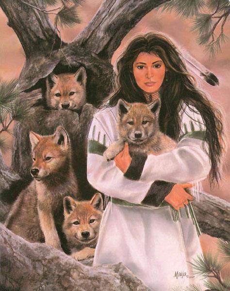 Девушка и волки 3, оригинал