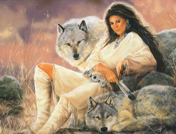 Девушка и волки 5, оригинал