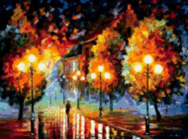 Фонари ночного города