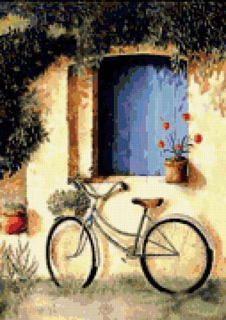 Велосипед под окошком