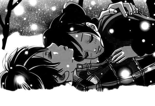 Зима, любовь, монохром, люди,
