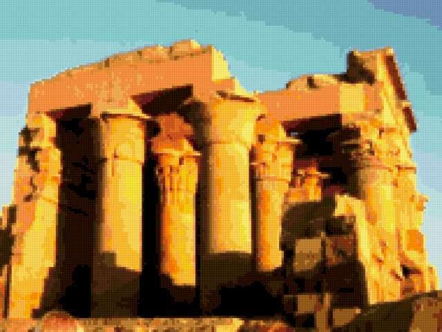 Египетский храм, пейзаж
