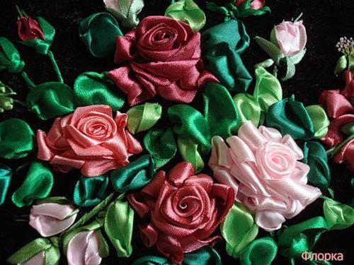 Розы из лент, оригинал