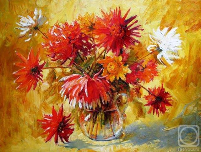 Букет георгин, цветы, букет,