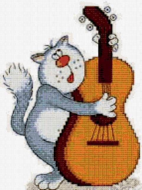 Схема для вышивки музыкант