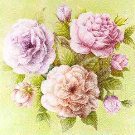 Подушка Розы в пастельных
