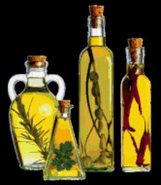 Бутылки с маслом, предпросмотр