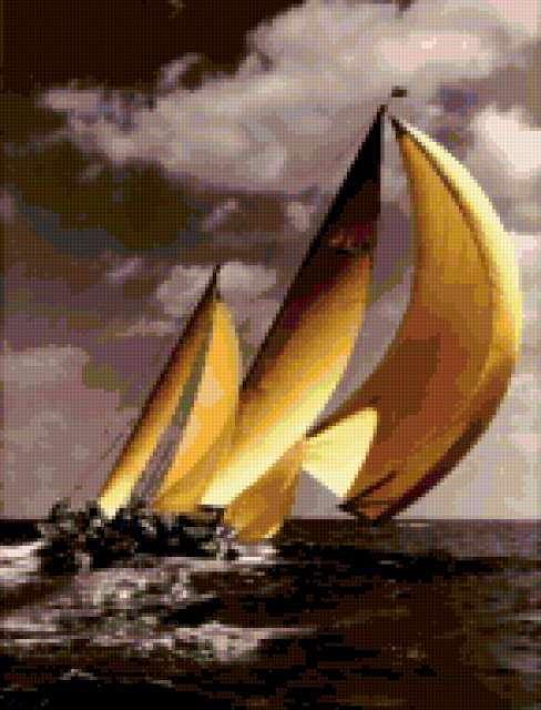 Яхты в море, предпросмотр