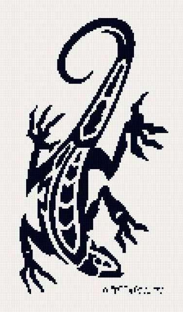 Ящерицы рисунки вышивка