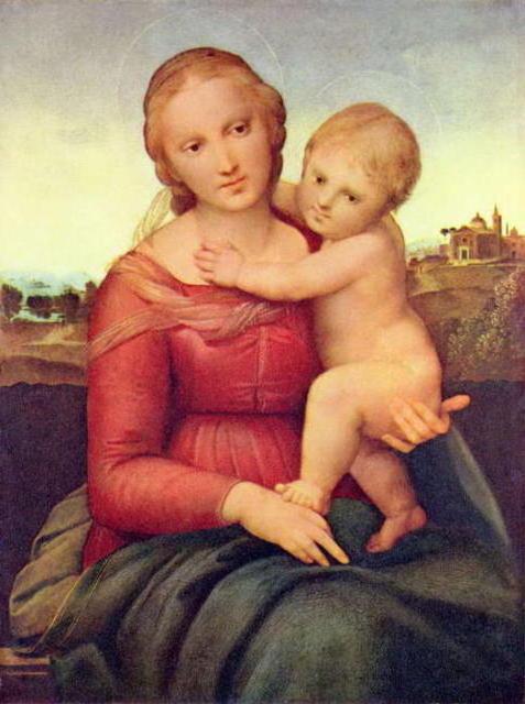 Рафаэль.Мадонна с младенцем.,