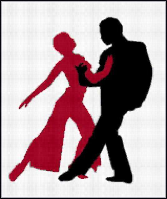 Силуэт танца, пара, танец,