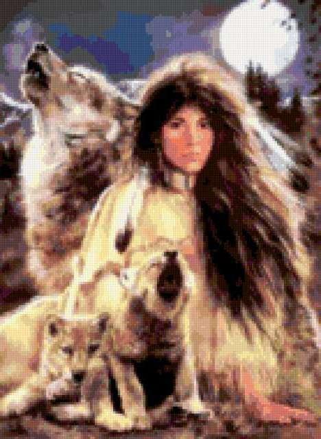 Девушка из племени Майя,