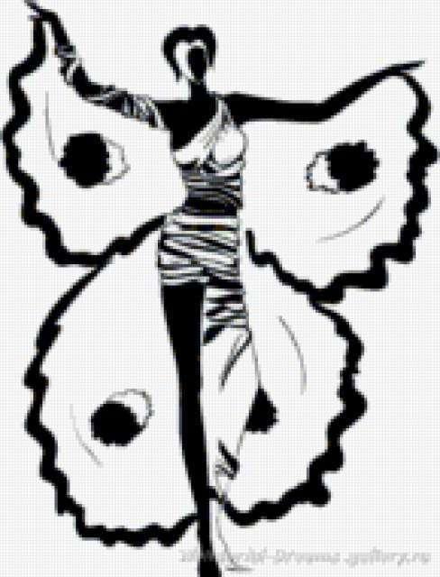 Бабочка, девушки, рисунки