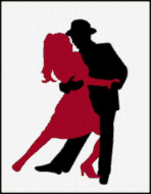 Силуэт танца, предпросмотр