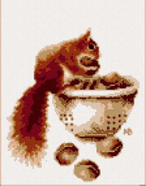 Белочка с орешками