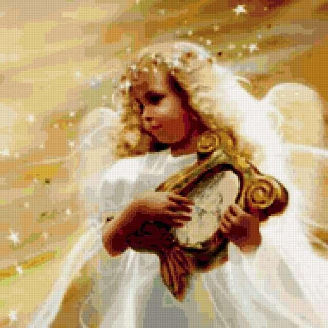 Ангел вышивка крестом маленький