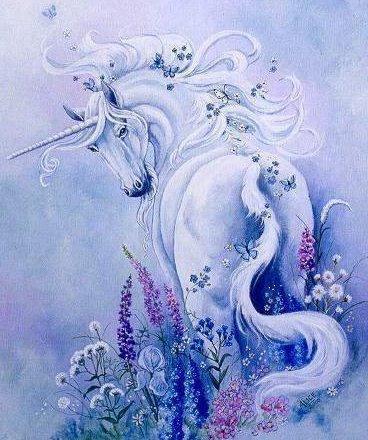 Единорог в цветах фото