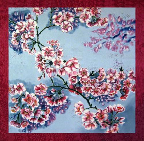 Подушка цветущая сакура