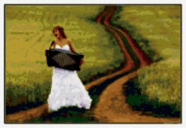 Девушка с аккордеоном