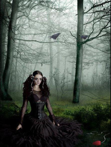 The lady in the woods, gotica